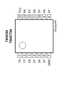 74HC04D chip pinout