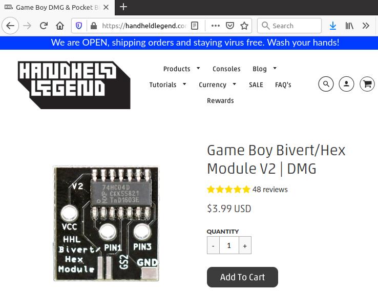 HHL store screenshot
