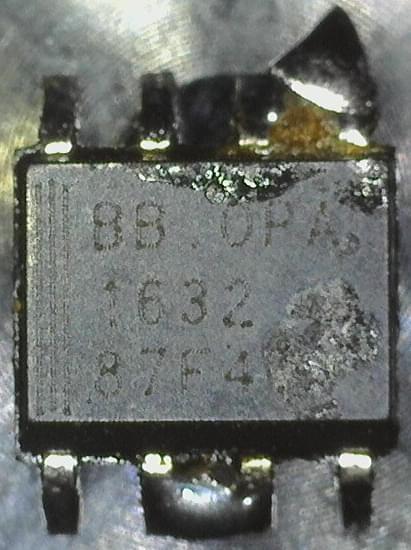 OPA1632 chip photo